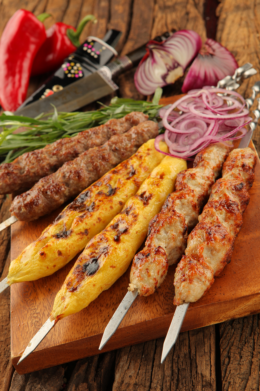 Люля кебаб из картофеля мангале рецепт
